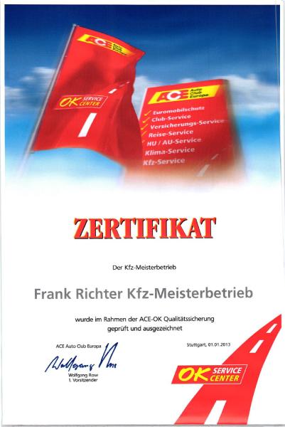 ACE-Zertifikat